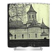 Old Village Church Shower Curtain
