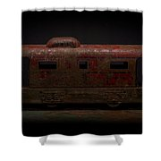 Old Vintage Caboose Number 624 Shower Curtain