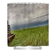 Old Vintage Truck On The Prairie Shower Curtain