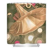 Old Vinyl Record Gramophone Shower Curtain
