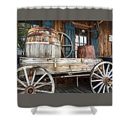 Old Wagon And Barrell Shower Curtain