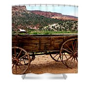 Old Wagon Shower Curtain