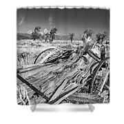 Old Wagon, Jackson Hole Shower Curtain