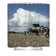 Old Wagon Out West Shower Curtain