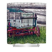 Old Wagon Outside Belgian Farm Shower Curtain