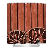 Old Wagon Wheels IIi Shower Curtain