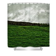Old Wall, New Gate Shower Curtain