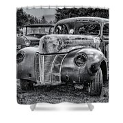Old Warrior - 1940 Ford Race Car Shower Curtain