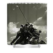 Old Washington Photo - Iwo Jima War Memorial Shower Curtain