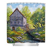 Old Watermill Shower Curtain