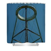 Old Watertower  Shower Curtain