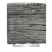Old Weathered Wood Board Shower Curtain
