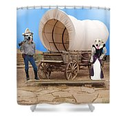 Old West Dogs Shower Curtain