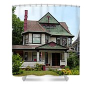 Old West End White 3 Shower Curtain