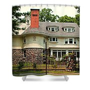 Old West End White 5 Shower Curtain