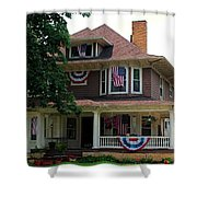 Old West End White 6 Shower Curtain