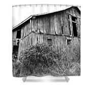 Old West Virginia Barn Black And White Shower Curtain