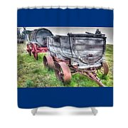 Old West Wagons Shower Curtain