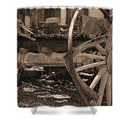 Old Western Wagon # 4 Shower Curtain