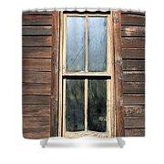Old Western Window Shower Curtain