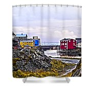 Old Whaling Village Nyksund Shower Curtain