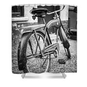 Old Wheels Shower Curtain