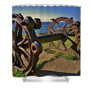 Old Winch Tintagel Shower Curtain