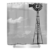 Old Windmill II Shower Curtain