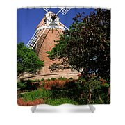 Old Windmill Shower Curtain