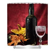 Old Wine Bottle Shower Curtain