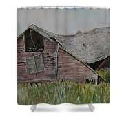 Old Wisconsin Barn Shower Curtain