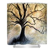 Old Wise Tree Shower Curtain