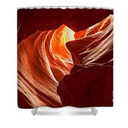 Old Woman In The Canyon Shower Curtain