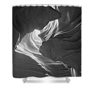 Old Woman In The Canyon Black And White Shower Curtain