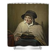 Old Woman Reading, Cornelis Kruseman, 1820 - 1833 Shower Curtain