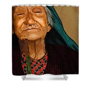 Old Women Shower Curtain