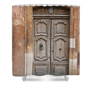 Old Wood Door - France Shower Curtain