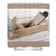 Old Wood Planer Shower Curtain