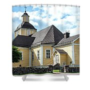 Old Wooden Church  Shower Curtain