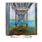 Old Wooden Pier Shower Curtain