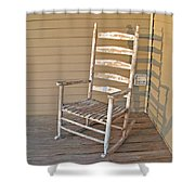 Old  Wooden  Rocking  Chair Shower Curtain