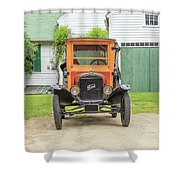 Old Woodie Model T Ford  Shower Curtain