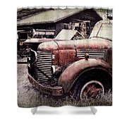 Old Work Trucks Shower Curtain