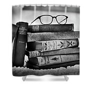 Old World Books Shower Curtain