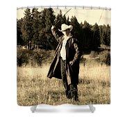 Old World Cowboy Shower Curtain