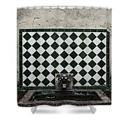 Old World Water Fountain Shower Curtain