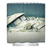 Old Wreck Shower Curtain