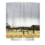 Old Wyoming Farm Shower Curtain