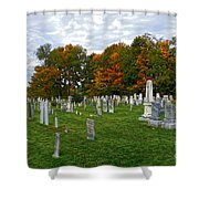 Old Yard Cemetery Stowe Vermont Shower Curtain
