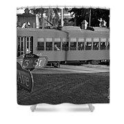 Old Ybor City Trolley Shower Curtain